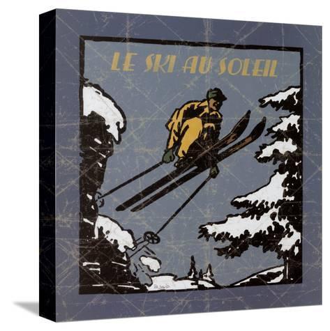Le Ski au Soleil I-Philippe David-Stretched Canvas Print