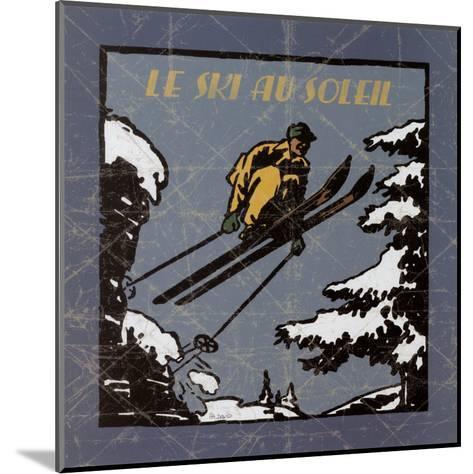 Le Ski au Soleil I-Philippe David-Mounted Art Print