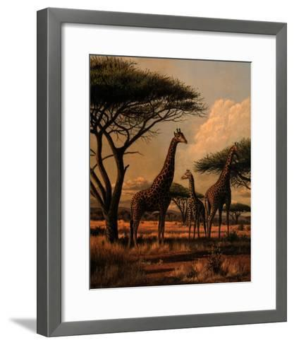 Giraffe Family-Clive Kay-Framed Art Print