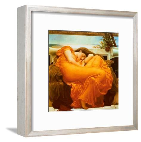 Flaming June, c.1895-Frederick Leighton-Framed Art Print
