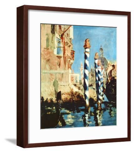 Grand Canal, Venice-Edouard Manet-Framed Art Print