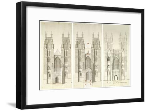 West Front Tower-Nicholas Hawksmoor-Framed Art Print