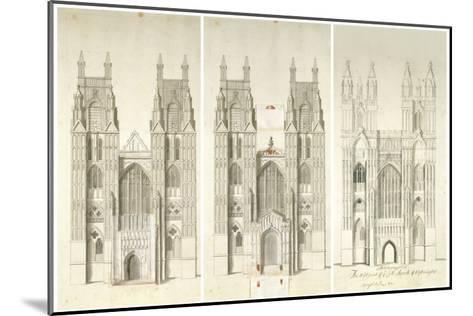 West Front Tower-Nicholas Hawksmoor-Mounted Art Print