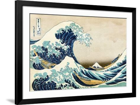 The Great Wave at Kanagawa (from 36 views of Mount Fuji), c.1829-Katsushika Hokusai-Framed Art Print