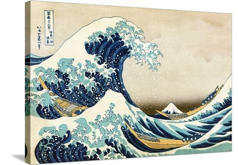 The Great Wave at Kanagawa (from 36 views of Mount Fuji), c.1829-Katsushika Hokusai-Stretched Canvas Print