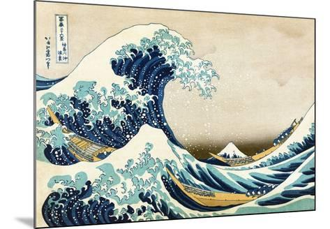 The Great Wave at Kanagawa (from 36 views of Mount Fuji), c.1829-Katsushika Hokusai-Mounted Art Print