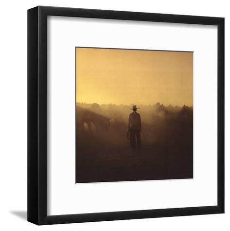 On the Range I, Remuda No. 5-Adam Jahiel-Framed Art Print