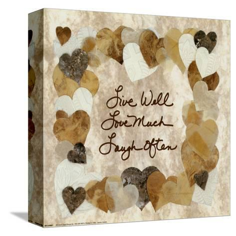 Live Well, Love Much, Laugh Often-Lauren Hallam-Stretched Canvas Print