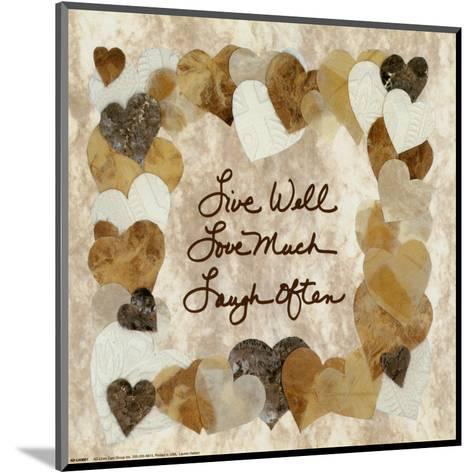 Live Well, Love Much, Laugh Often-Lauren Hallam-Mounted Art Print