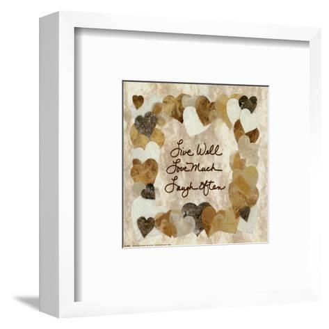 Live Well, Love Much, Laugh Often-Lauren Hallam-Framed Art Print