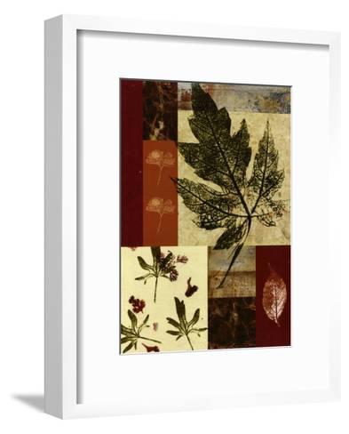 Leaf Print Collage III--Framed Art Print