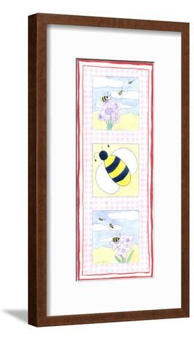 Bee Trio-Megan Meagher-Framed Art Print