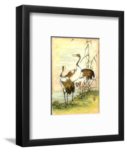 Oriental Cranes I--Framed Art Print