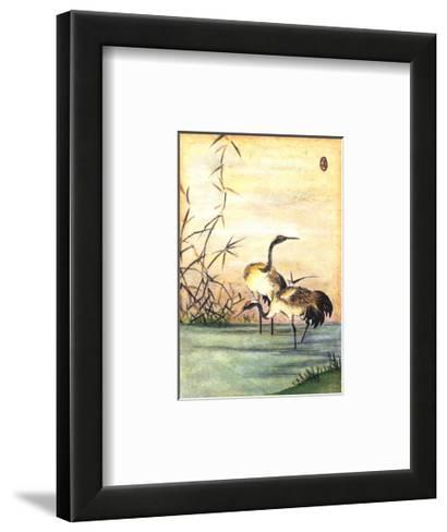 Oriental Cranes II--Framed Art Print