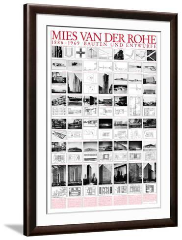 Planned and Unfinished Buildings-Mies Van Der Rohe-Framed Art Print