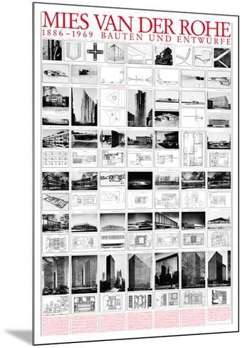 Planned and Unfinished Buildings-Mies Van Der Rohe-Mounted Art Print