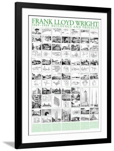 Buildings and Projects, 1869-1959-Frank Lloyd Wright-Framed Art Print