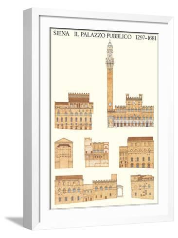 Il Palazzo Pubblico, Siena--Framed Art Print