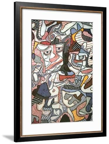 Hourloupe, 1963-Jean Dubuffet-Framed Art Print