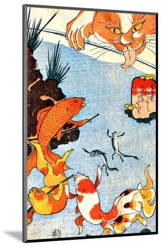 Goldfish and Cat--Mounted Giclee Print