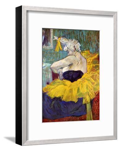 The Lady Clown Cha-U-Kao-Henri de Toulouse-Lautrec-Framed Art Print
