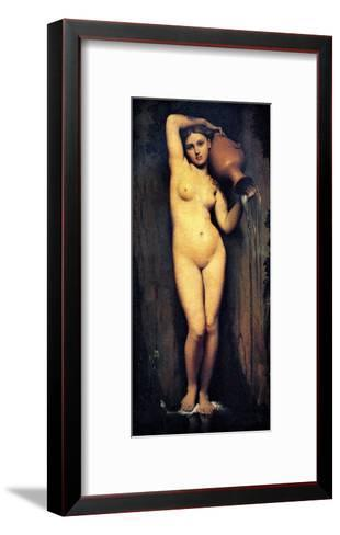 The Source-Jean-Auguste-Dominique Ingres-Framed Art Print