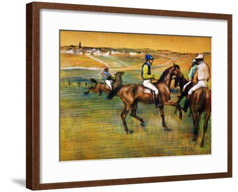 Race Horses-Edgar Degas-Framed Art Print