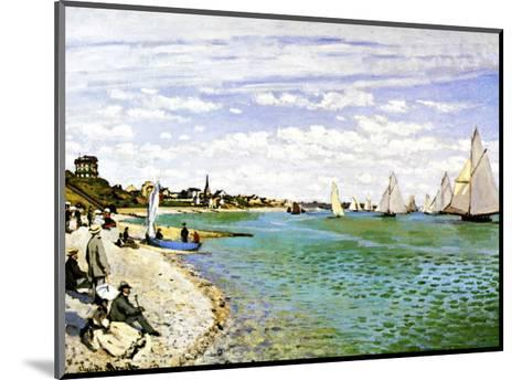 The Beach at Sainte Adresse-Claude Monet-Mounted Giclee Print