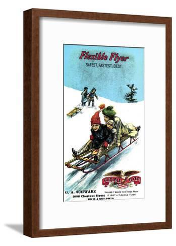 Flexible Flyer Sled--Framed Art Print