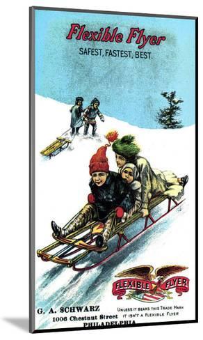 Flexible Flyer Sled--Mounted Giclee Print