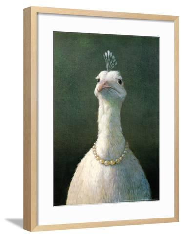 Fowl with Pearls-Michael Sowa-Framed Art Print