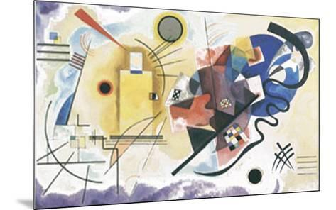 Jaune, Rouge, Bleu, 1925-Wassily Kandinsky-Mounted Art Print
