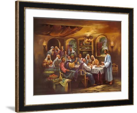 Black Last Supper-Bev Lopez-Framed Art Print