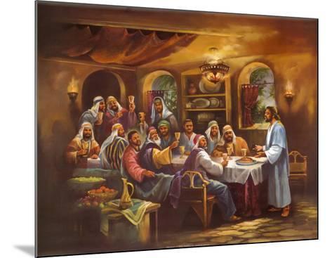 Black Last Supper-Bev Lopez-Mounted Art Print