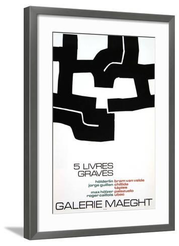 Cinq Livres Graves, 1974-Eduardo Chillida-Framed Art Print