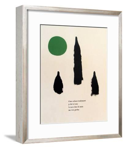 Illustrated Poems, Parler Seul-Joan Mir?-Framed Art Print