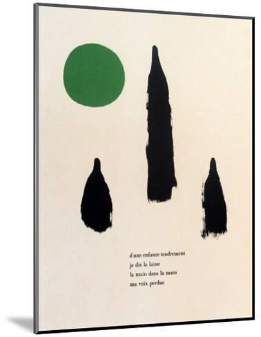 Illustrated Poems, Parler Seul-Joan Mir?-Mounted Art Print