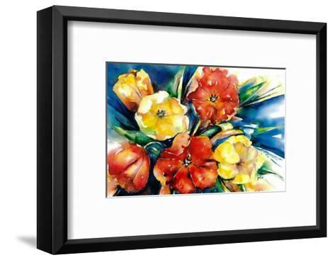 Flower Festival II-Hanneke Floor-Framed Art Print