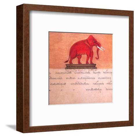 The Auspicious Elephant III-Ping Chettabok-Framed Art Print