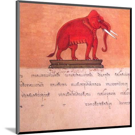 The Auspicious Elephant III-Ping Chettabok-Mounted Art Print