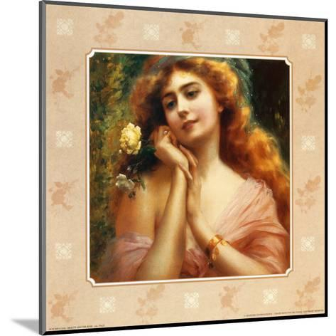 Beauty and the Rose I--Mounted Art Print