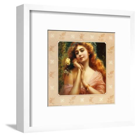 Beauty and the Rose I--Framed Art Print