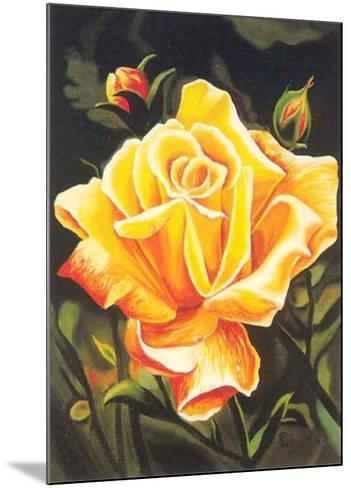 The Golden Flower-N^ Fiore-Mounted Art Print