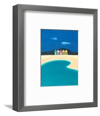 On the Seashore II-A^ Spitz-Framed Art Print