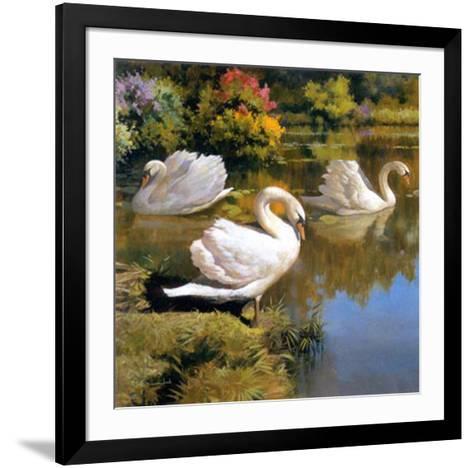 The Swans Family I-Spartaco Lombardo-Framed Art Print