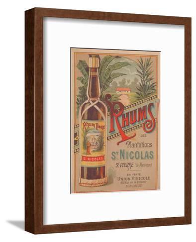 Rhum St Nicolas--Framed Art Print