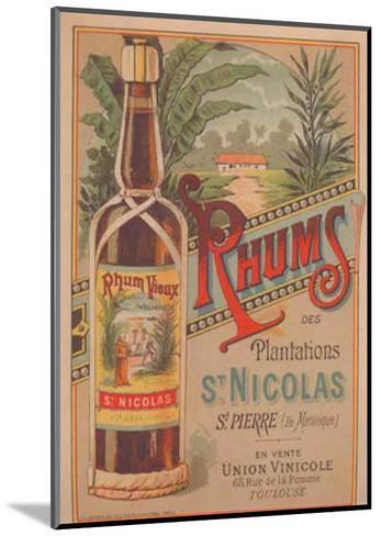 Rhum St Nicolas--Mounted Art Print