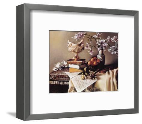 Music and Magnolia-Elena Litvin-Framed Art Print