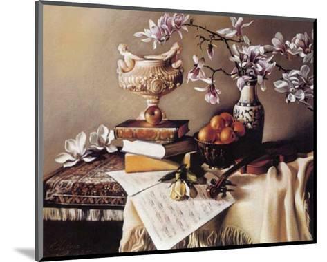Music and Magnolia-Elena Litvin-Mounted Art Print