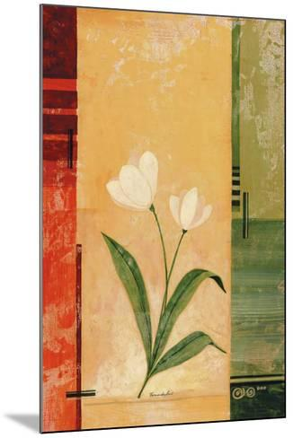 Two White Tulips-Fernando Leal-Mounted Art Print